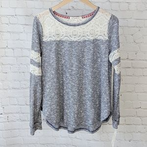 NWT Rewind Long Sleeve Thermal With Lace Details
